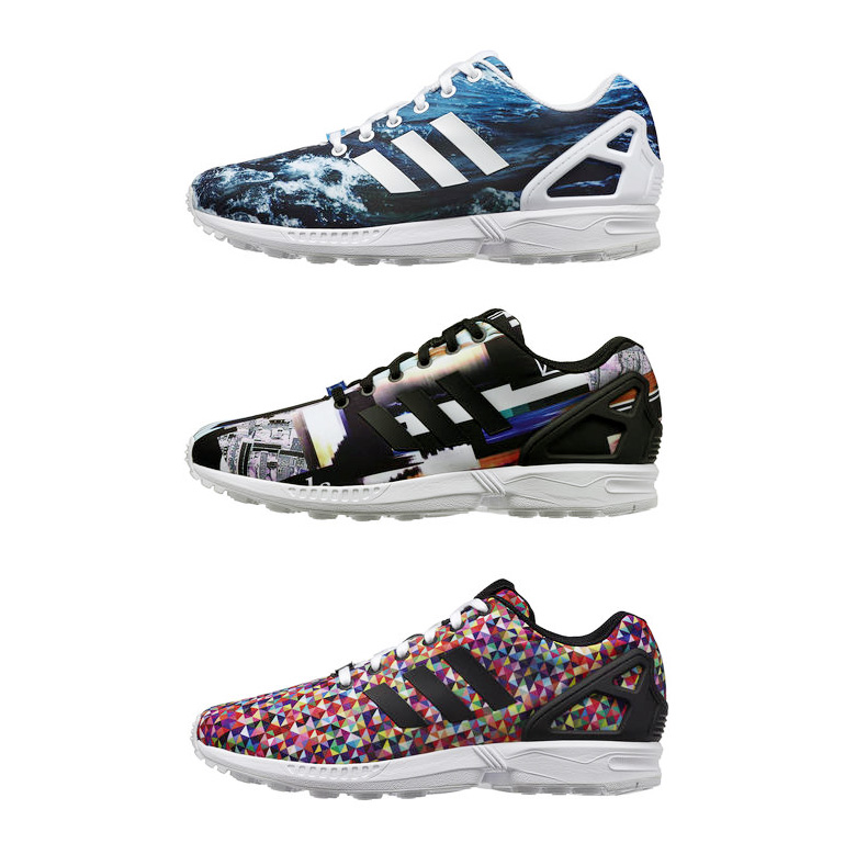adidas zx flux print pack