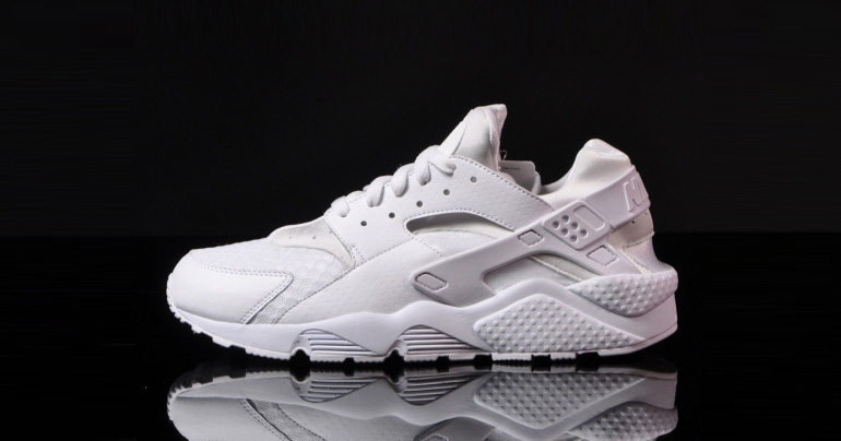 nike air huarache triple white/white pure platinum