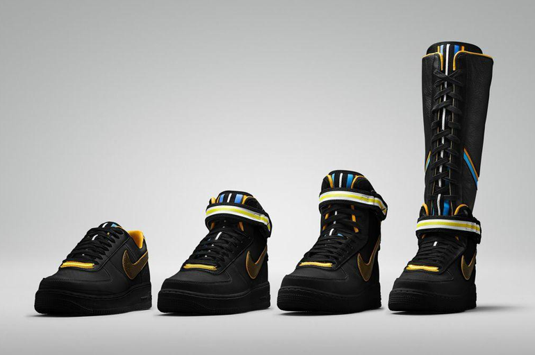 Nike + R.T. Air Force 1 Black Collection by Riccardo Tisci