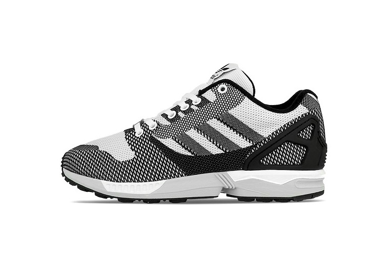 buy popular 8cf45 49b99 Adidas Zx Flux Weave White Black Solid Grey Unisex Sports