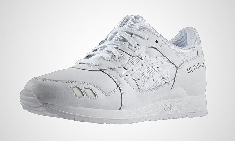 asics gel lyte 3 pure white ebay