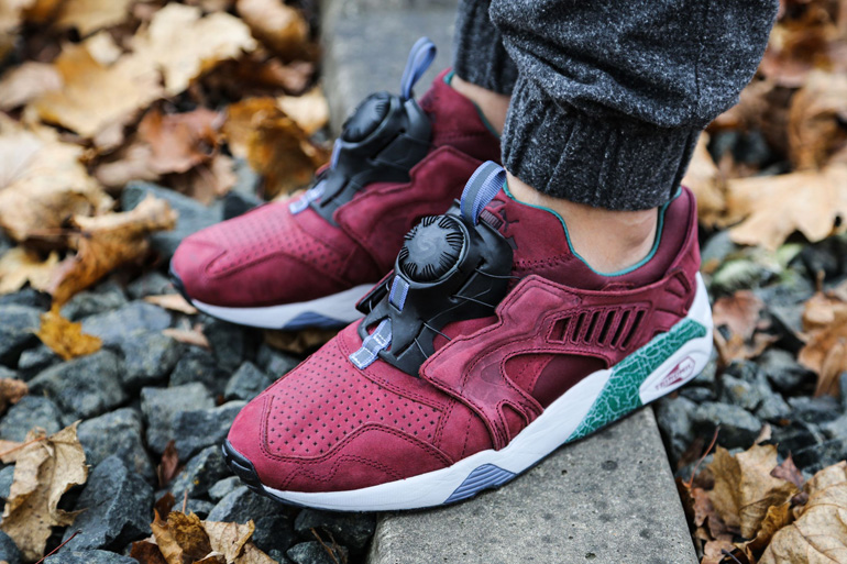 puma disc blaze � crackle pack burgundy sneakerb0b releases