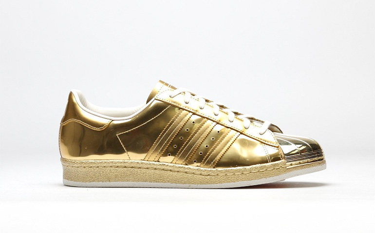 New Adidas superstar white and gold 2016