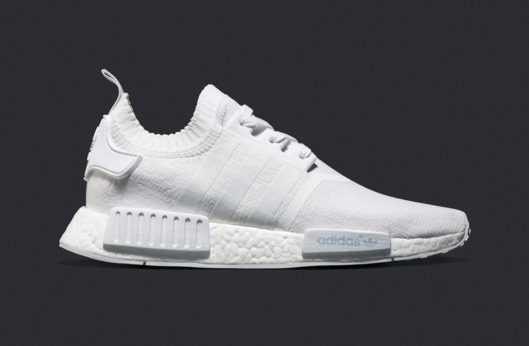 Adidas Original NMD R1 Primeknit Tri Color Gray / white Bb 2888