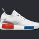 adidas NMD_R1 Primeknit – Vintage White / Lush Red