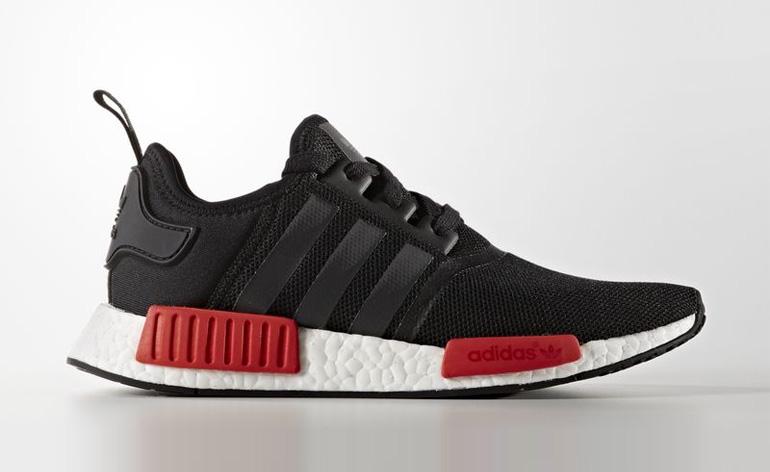 Adidas Nmd R1 Dark Grey Solar Red