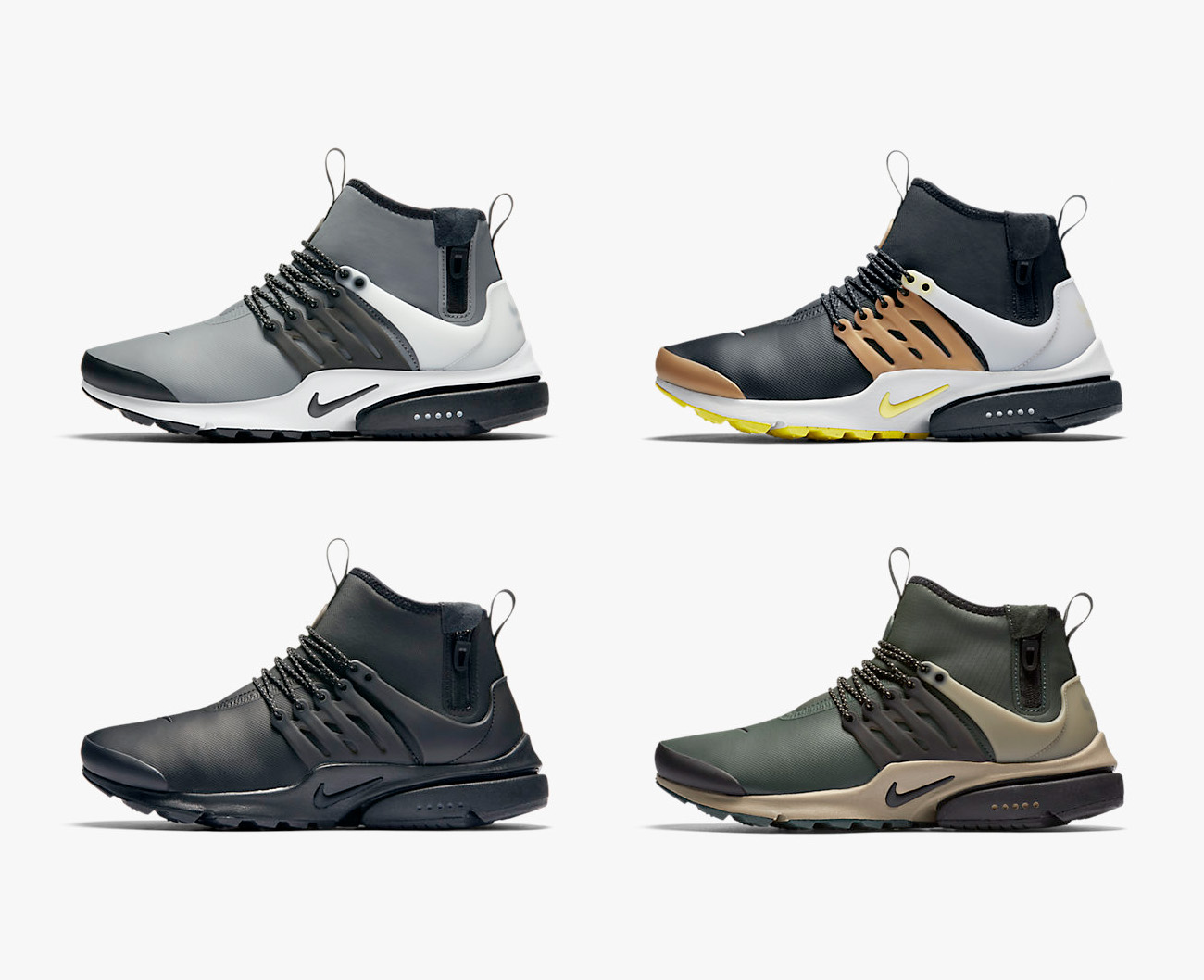 nike air presto mid utility sneakerb0b releases. Black Bedroom Furniture Sets. Home Design Ideas
