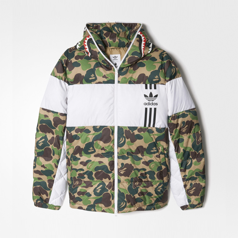 bape x adidas id96 down jacket sneakerb0b releases. Black Bedroom Furniture Sets. Home Design Ideas