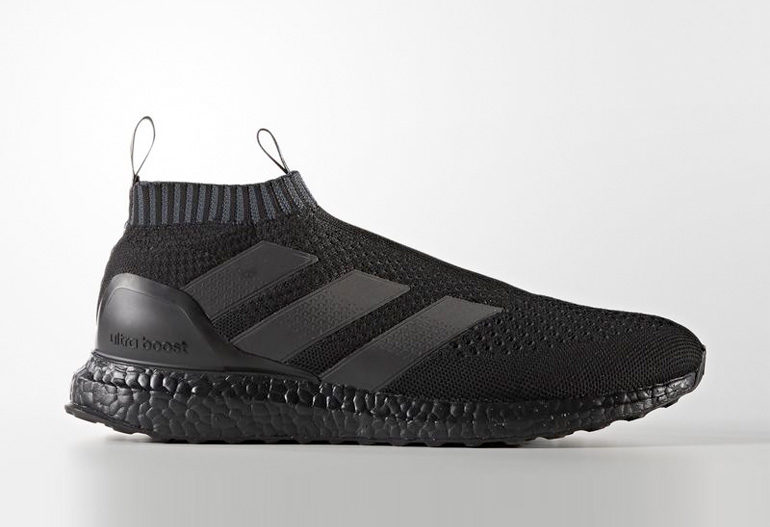 adidas ace 16 purecontrol ultra boost triple black. Black Bedroom Furniture Sets. Home Design Ideas