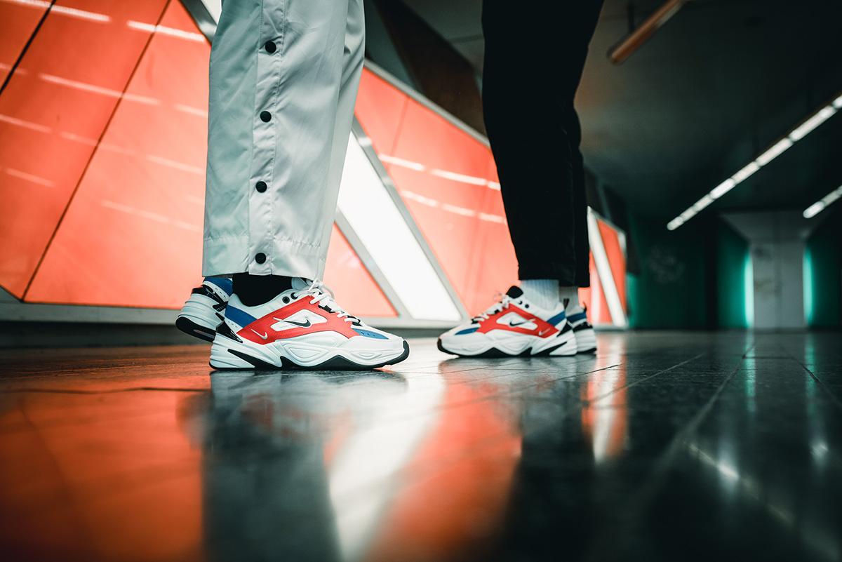 Nike Wmns M2k Tekno White Black Team Orange Sneakerb0b