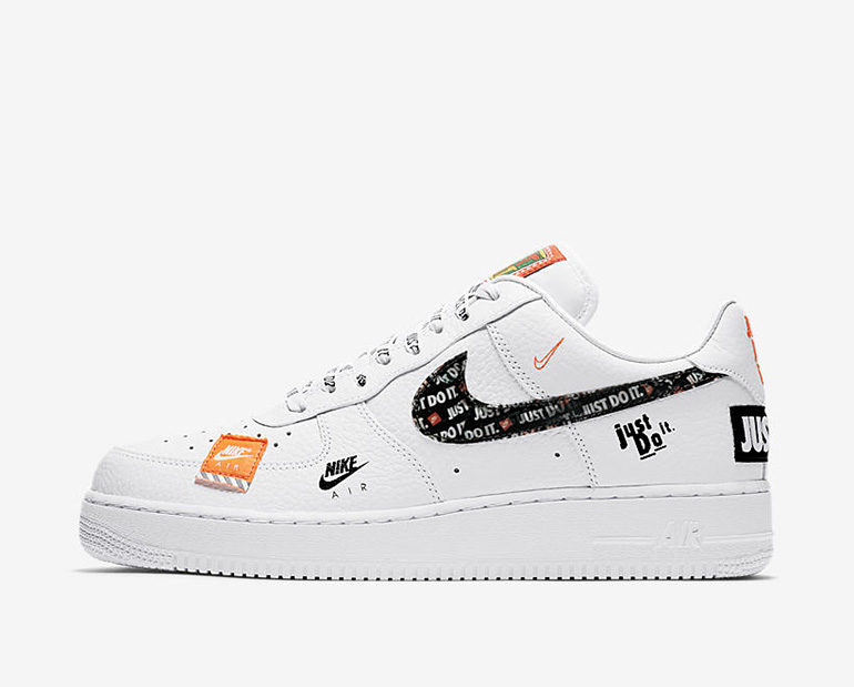 size 40 772b2 549e0 Nike Air Force 1 – White JUST DO IT | sneakerb0b RELEASES