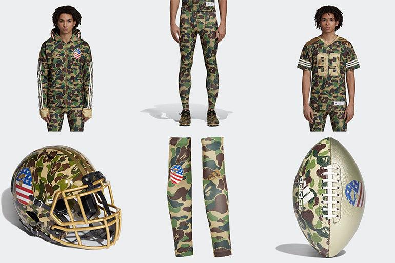 5c8bfbeb00f BAPE x adidas American Football Collection