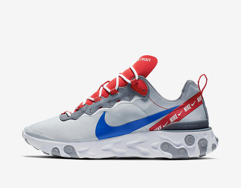 6c963f8205d7 Nike React Element 55 – Grey Royal Red