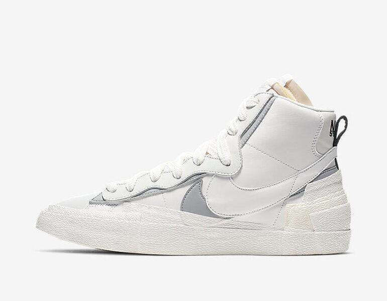 wholesale sales affordable price brand new Sacai x Nike Blazer Mid – White | sneakerb0b RELEASES