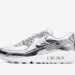 air max 90 metallic silver