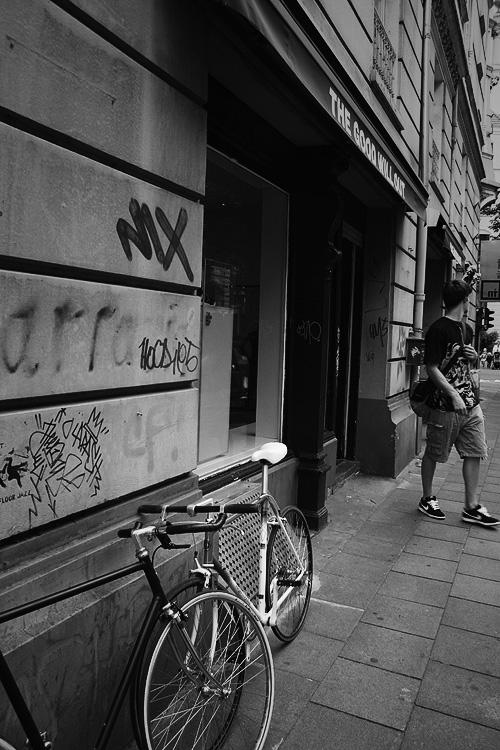 mit dem Bike in Köln