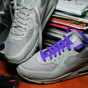 nike air max 90 grey purple laces