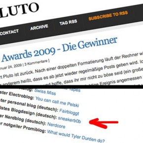 And the Pluto Award goes to...