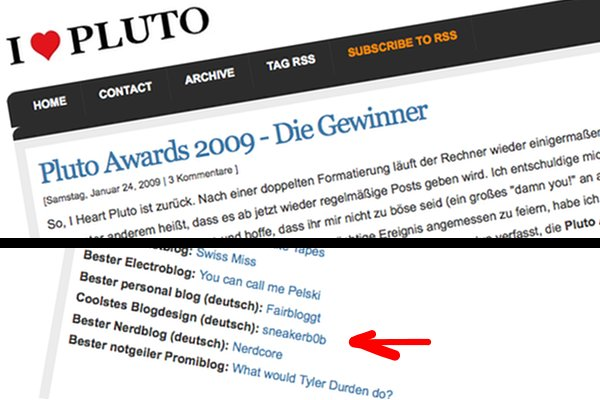 pluto awards 2009