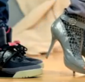 Knock You Down Video mit den schwarzen Yeezys...