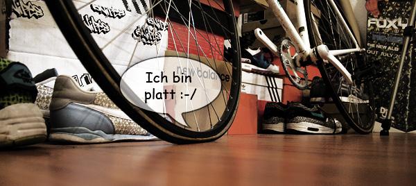 Bike reifen platt