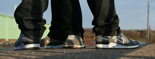 asics solebox gel lyte III Nike Moire