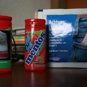 Gratis Mentos Gum Pocket-Dose...