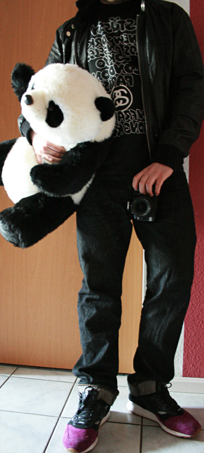 sneakers with panda