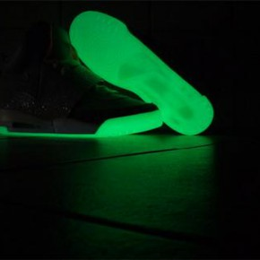 nike air yeezy glow in the dark sole