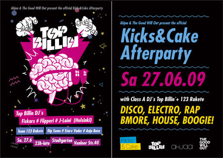 kicks & cake afterparty