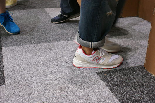 jeff staple with white pigeon new balance