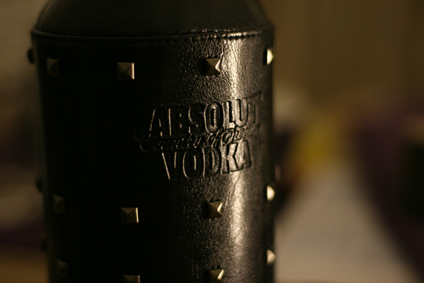 absolut vodka diesel leather