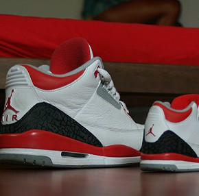 jordan 3 fire red baby shoe