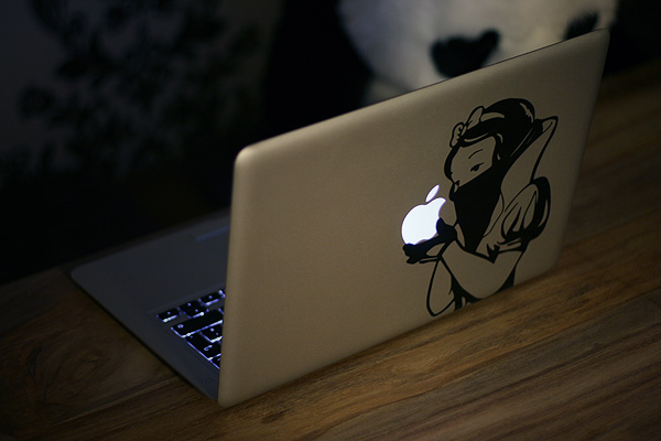 schneewittchen auf macbook
