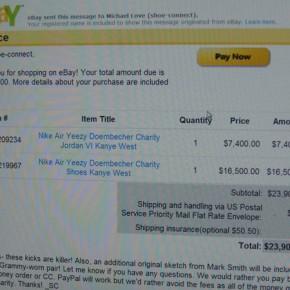 $23.900 für zwei Air Yeezys