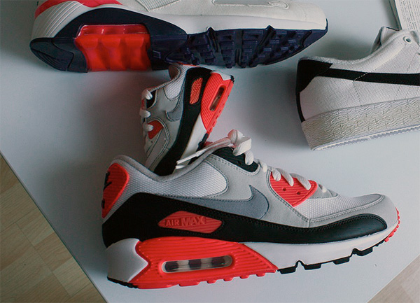 Nike Sie Max 90 Infrared cro orange weiß grau