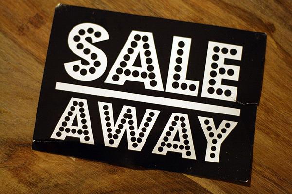 sale away lagerverkauf