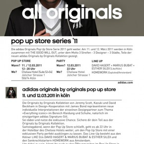 adidas originals Pop Up Store in Köln...