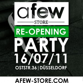 Afew-Store Reopening Party am 16.7