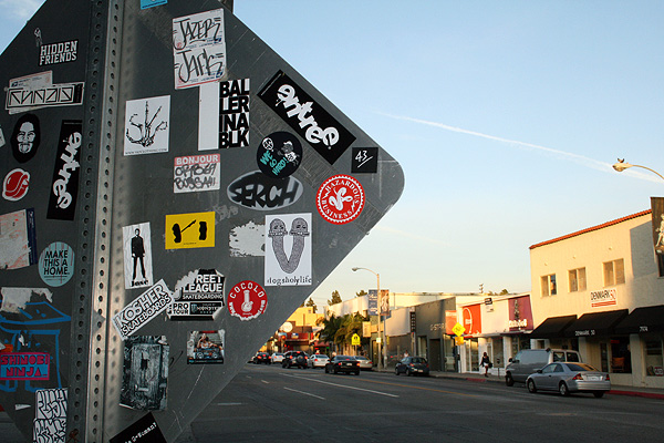 melrose ave sticker