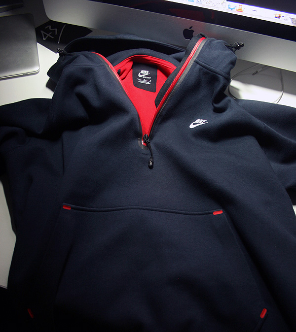 nike navy red hooded