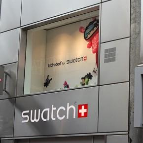 Kidrobot for Swatch im Swatch Store Köln...