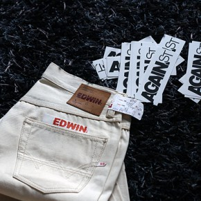 Edwin ED 47 Natural White Raw Selvage