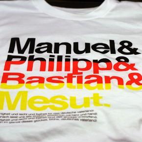 Manuel & Philipp & Bastian & Mesut DRMTM x EURO2012 Shirt