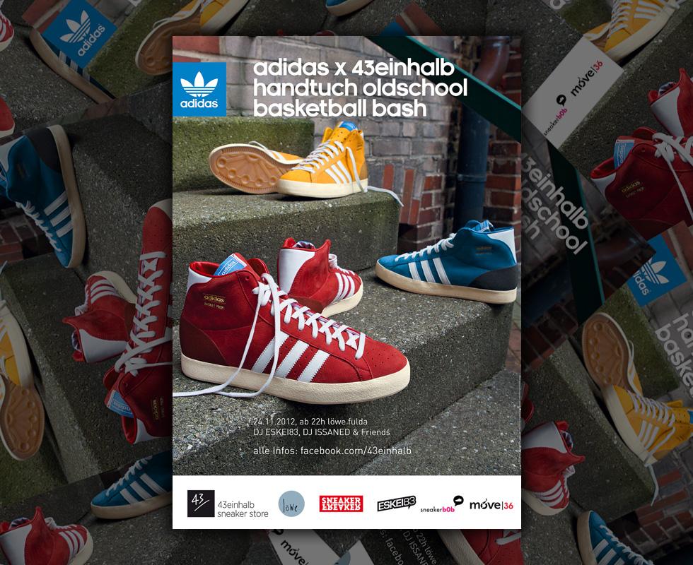 43einhalb x adidas Oldschool Basketball Handtuchparty