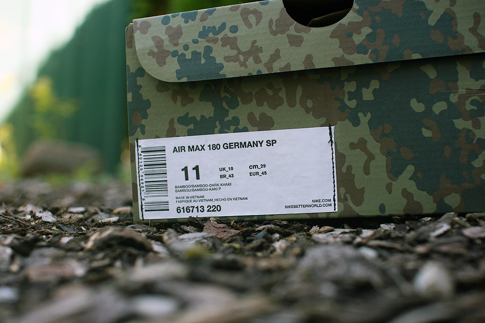 amazon better 50% off Nike AIR MAX 180 GERMANY SP – Camo Pack | sneakerb0b