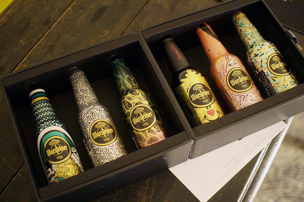 warsteiner bottle art