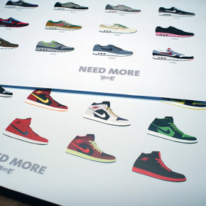 Need More Air Max 1 & Need More Jordans Poster von Egotrips